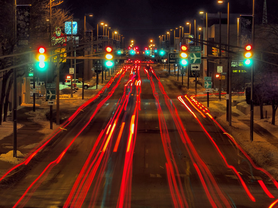 Downtown traffic. Photography by Ray Steup